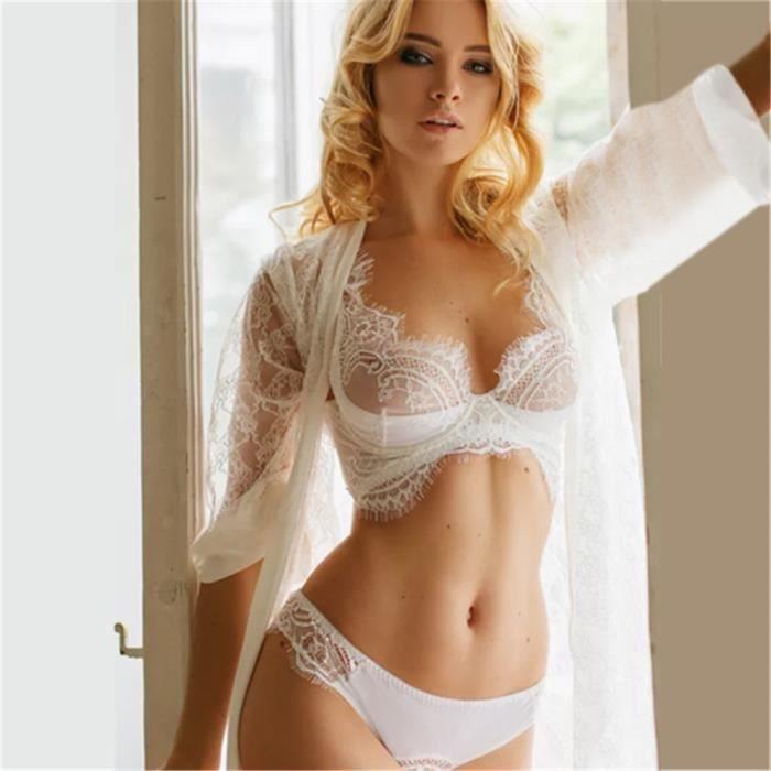 Frangée Détails Dentelle Bodydoll Pyjama Femmes Lingerie V Set cou awRZ5A1xOq