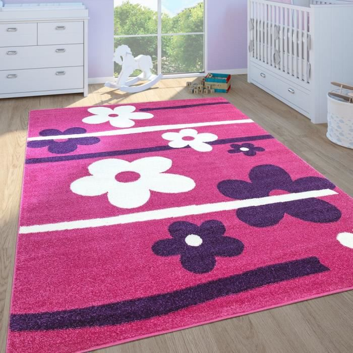 Tapis chambre fille rose - Achat / Vente pas cher