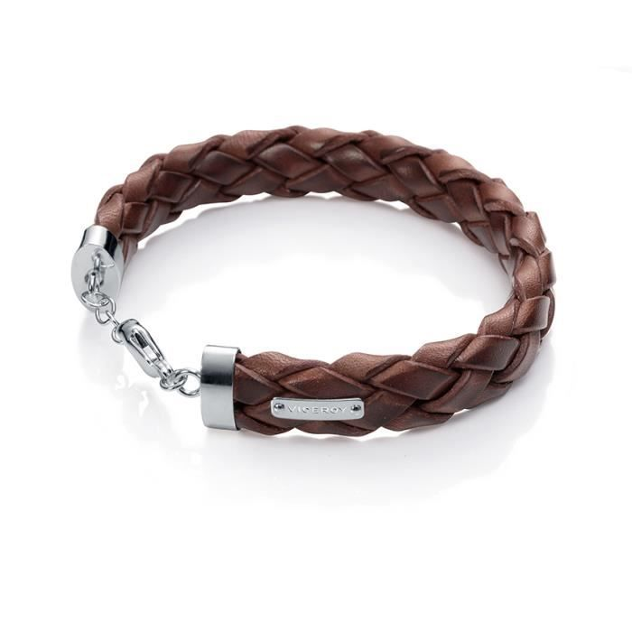 VICEROY JEWELS MODEL MAGNUM30003P000-94 - BRACELET-BRACCIALE - STAINLESS STEEL - LEATHER CUOIO