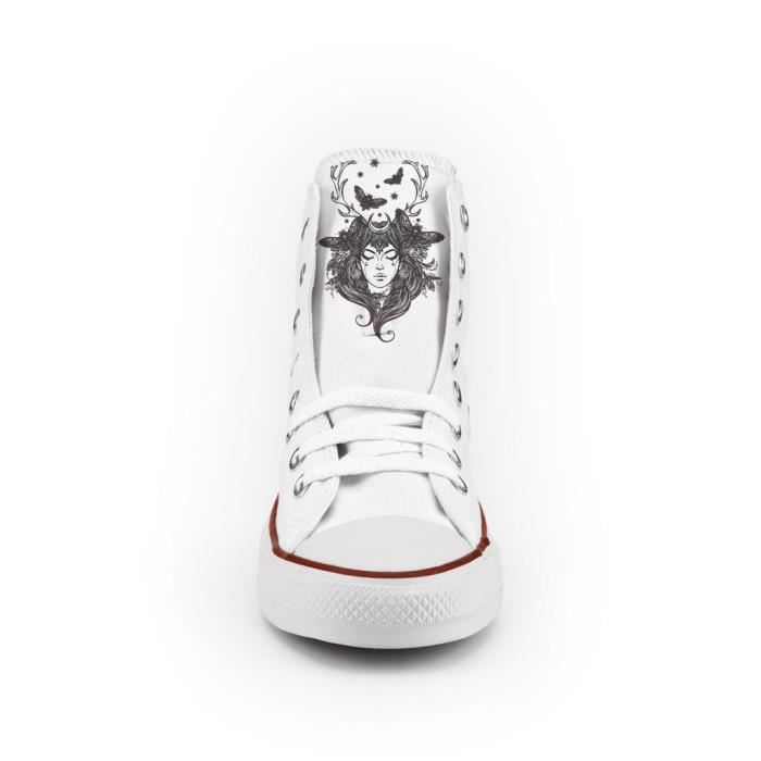 Converse All Star Personnalisé, Imprimés et Clouté or - chaussures à la main - produit Italien - lady