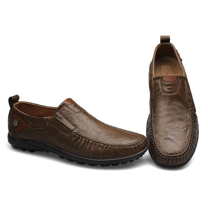 Chaussure Homme Nouvelle Mode Qualité Supérieure Doux En Cuir Plates Mocassins Occasionnelles Antidérapant Ultra Comforable GP9qXG