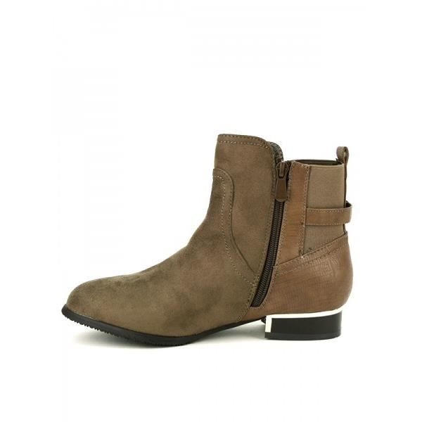 Bottines Taupe Chaussures Femme, Cendriyon