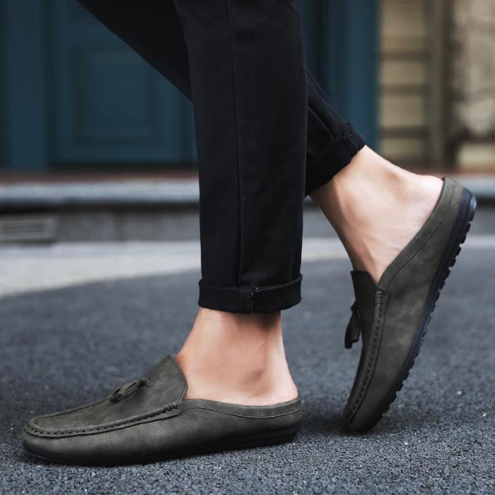Chaussures pour hommes à mi-chaussettes Chaussures à pois Chaussures de sport respirantes décontractées Chaussures pour bateaux SynKvWwQ