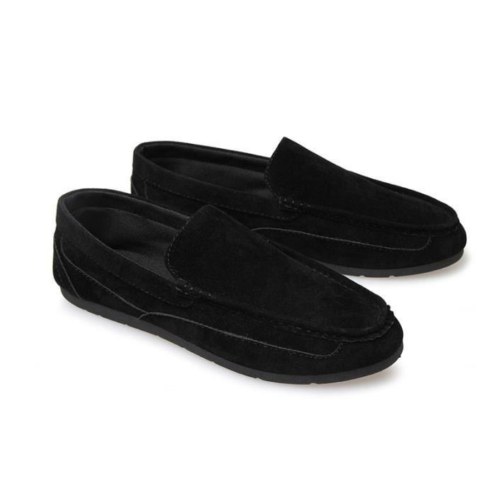 Hommes Simple Occasionnels Mocassins Masculines Respirante Chaussures Quotidien Noir