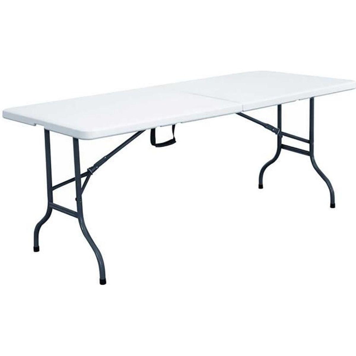 TABLE DE JARDIN  Table pliante 152cm table pliable portable