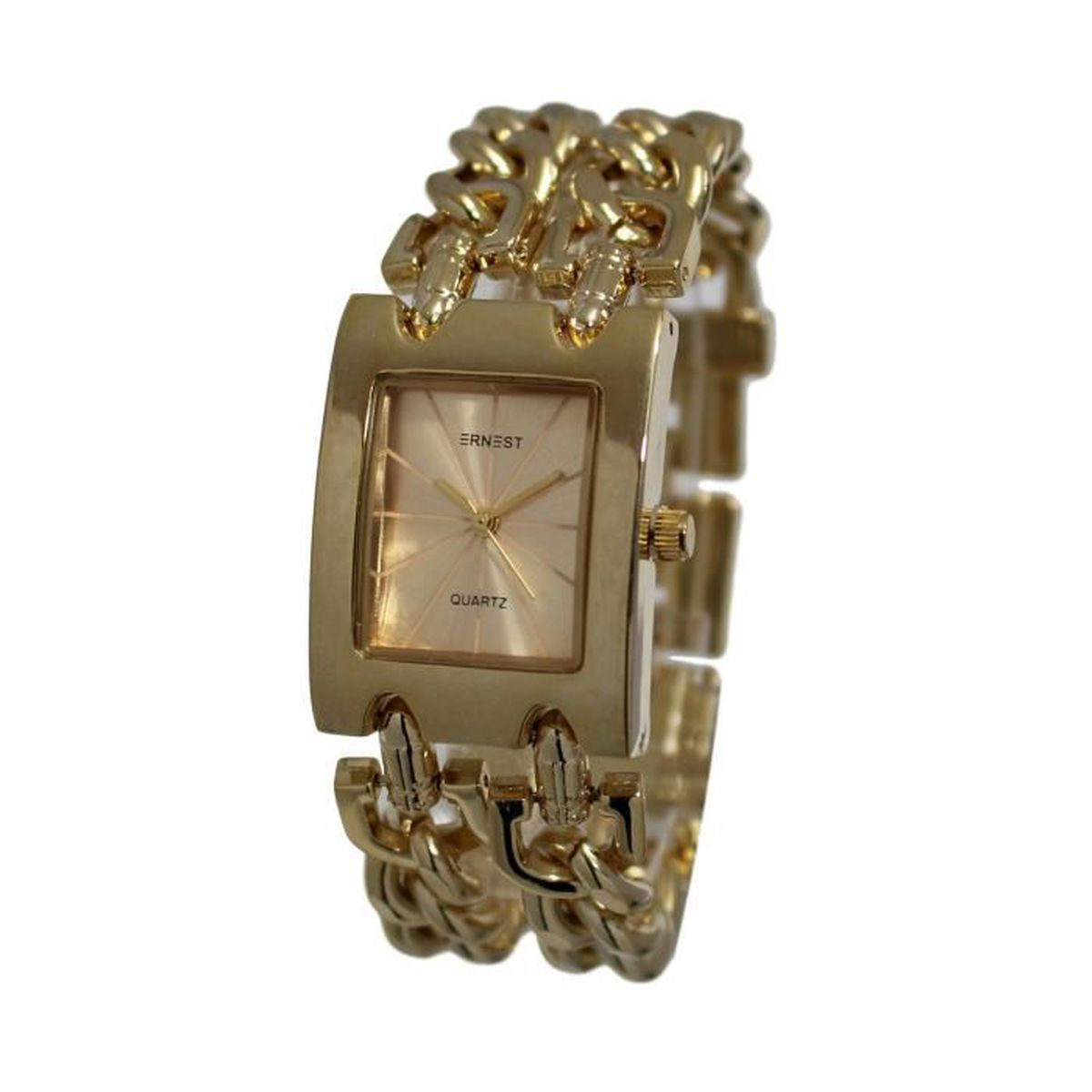 9373a82f22a MONTRE FEMME MAILLE TRESSEE ITALIENNE GOLD OR - Achat   Vente montre ...