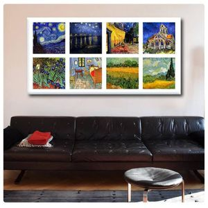 TABLEAU - TOILE Starry Night Cafe Church Room Collage 8 Vincent Va