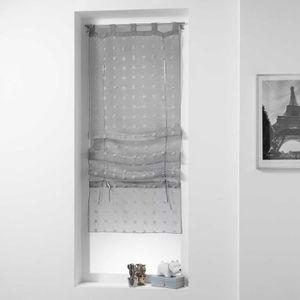 rideaux voilage 60x180 achat vente rideaux voilage 60x180 pas cher cdiscount. Black Bedroom Furniture Sets. Home Design Ideas