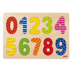 PUZZLE Puzzle d'encastrement Chiffres 0-9 GOKI