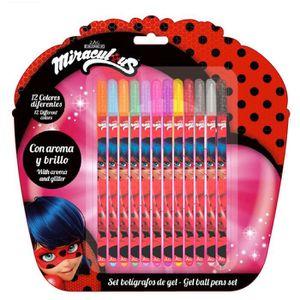 FEUTRES MIRACULOUS - Set de 12 feutres de couleur Ladybug