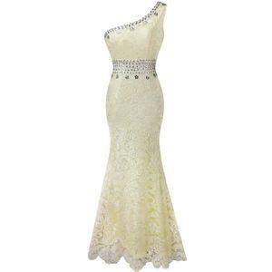 0a17ab477c1 ROBE DE MARIÉE Angel-fashions Femmes Robe de mariée une épaule De