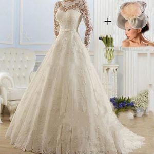 0008dfb948a ROBE DE MARIÉE La nouvelle robe de mariage de dentelle de traîne ...