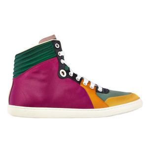 Chaussures baskets sneakers hautes homme en daim shearling Gucci AgHZV
