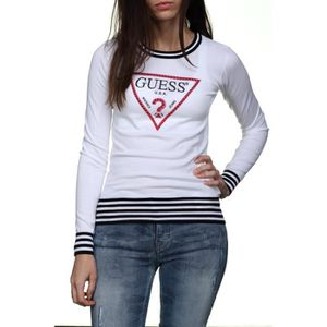 PULL Pull femme Guess W82r12 - Z10i0 S014 Blanc