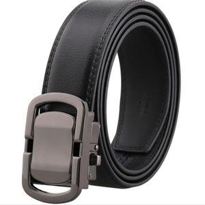 Ceinture - Boucle automatique en cuir sauvage Fashion avec ceinture noire 47cb422e36a