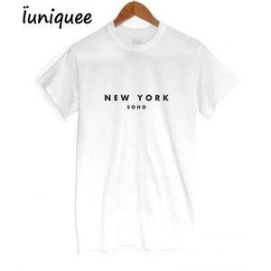 T-SHIRT T-Shirt Femme - Rock De Mode NEW YORK Imprimé Impr