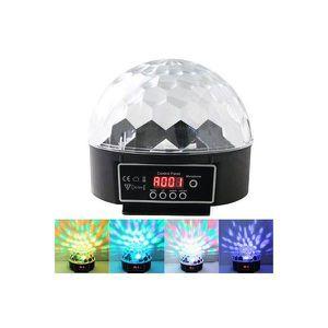 BOULE A FACETTES Boule à facette disco digitale multicolore lumi...