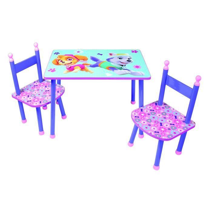 PAT'PATROUILLE Table + 2 Chaises