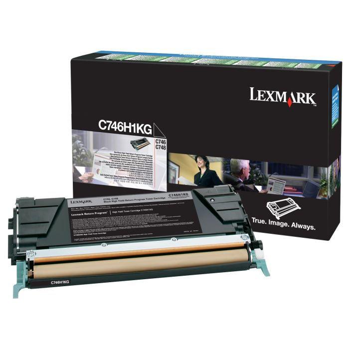 LEXMARK Cartouche de toner C746, C748 - Capacité standard 12.000 pages - Noir
