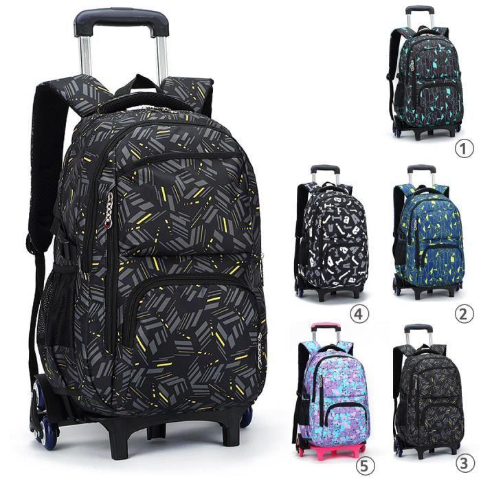Coofit cartable sac à dos a roulettes, chariot sac à roulettes sac avec roues  pour garçons filles enfants 3 e6a054b44903