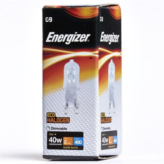 AMPOULE - LED 3 x Energizer ECO G9 Capsule Halogène 33w (40w) (E