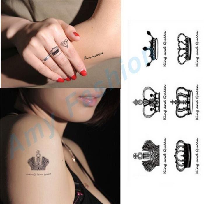 autocollants de tatouage couronne impériale temporaire body art