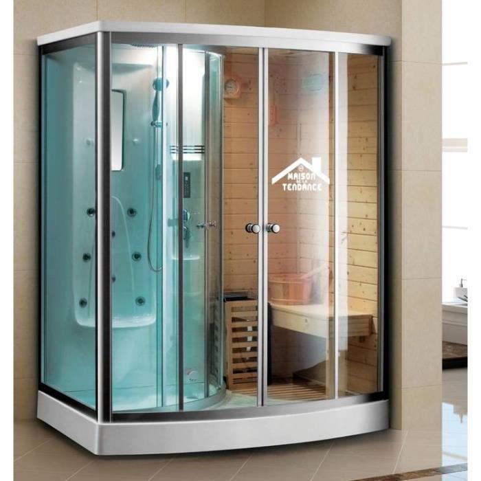 Combiné douche sauna-hammam DOUA K-9706 165x110 cm x 215 cm • Le ...