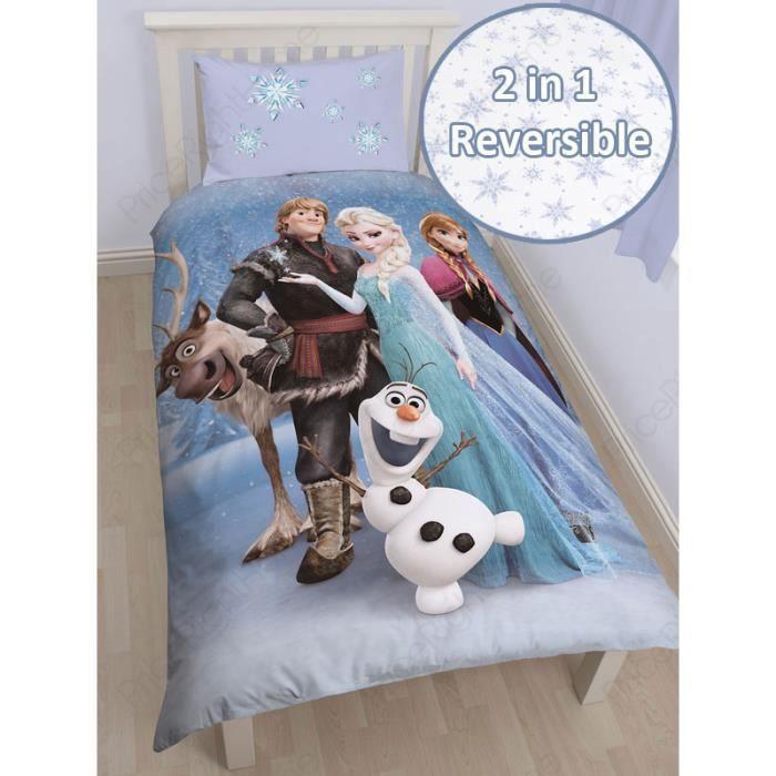 housse de couette la reine des neiges 1 personne achat vente housse de couette cdiscount. Black Bedroom Furniture Sets. Home Design Ideas