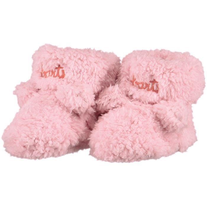 9bf9e44106b9a BARTS - Chaussures naissance en fourrure polaire rose tendre bébé fille du  0 au 6 mois Barts