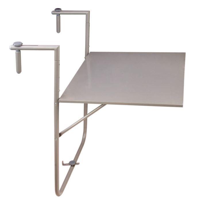 table bistro grise pour balcon en m tal 60x76x83cm achat vente table de jardin table bistro. Black Bedroom Furniture Sets. Home Design Ideas