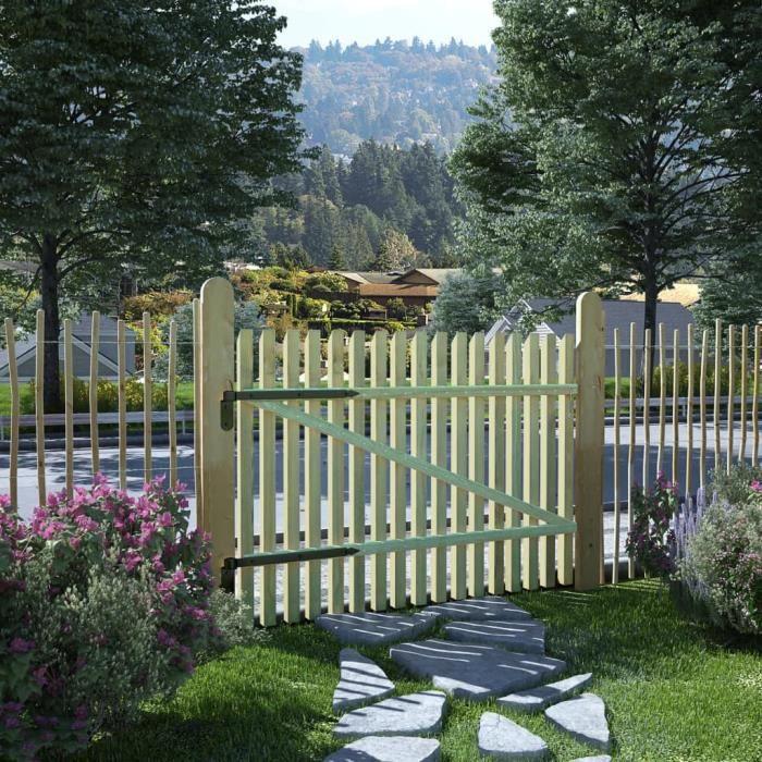 Dealpark Portail de Jardin en Bois de Pin Panneau de clôture clôture ...