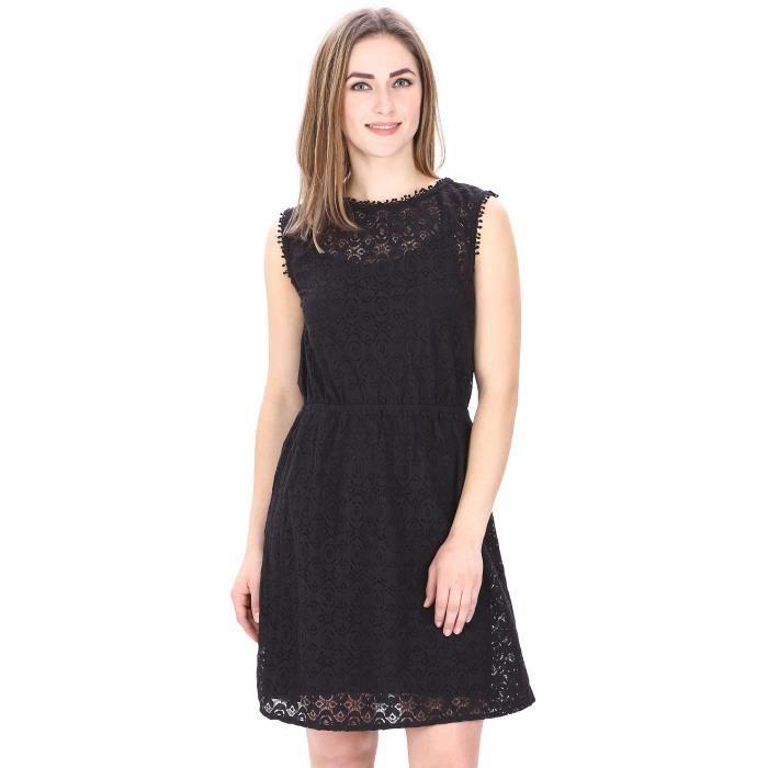 7cf51221b7b0 Robe classique en dentelle noire de femmes pour C2LZ2 Taille-36 Noir ...