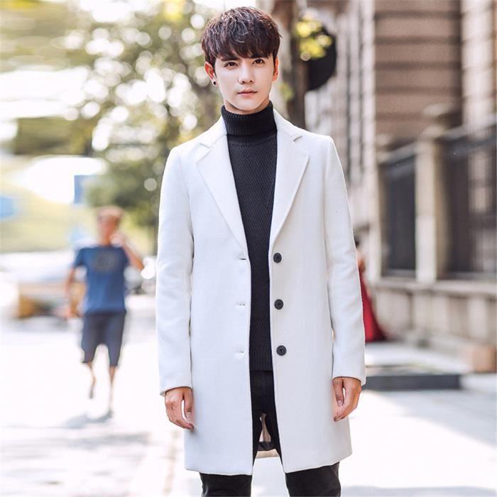 Britannique Homme Manteau De Hiver Long Marque Luxe 2018 Style x0qxHwZp