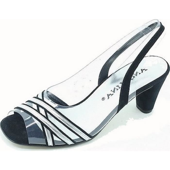 Mercante di Fiori-Femme chaussures en daim faux, décolleté avec sangle et boucle, talon-6cm. PP6832 i16