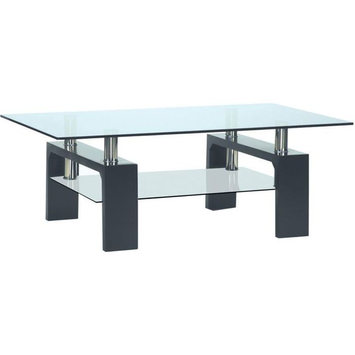 Table basse moderne rectangulaire for Table basse fumay