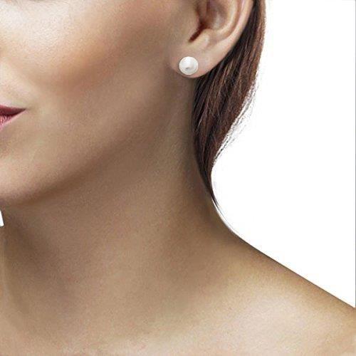 Boucles Doreilles - Or Jaune 14 Cts - Perle - Femme ZZ13L