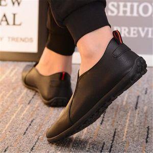 Mocassins Hommes Cuir Printemps Ete Plat Chaussures LLT-XZ079Jaune44 4h1ICd8