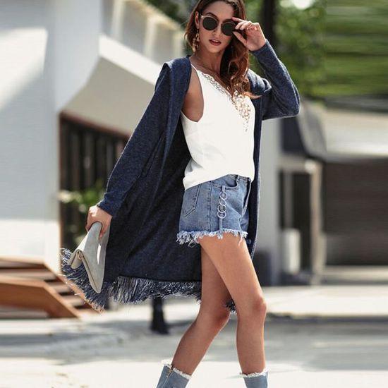 À Capuche D'hiver Cxz7326 Les Pardessus Poches Pleines Manteau Tassel Cardigan Outwear Femmes Y040pnwxP