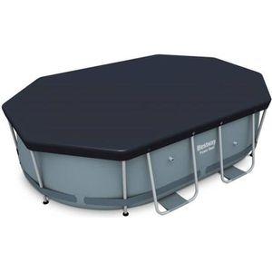 BÂCHE - COUVERTURE  Bâche de protection grise 3x2m pour piscine ovale