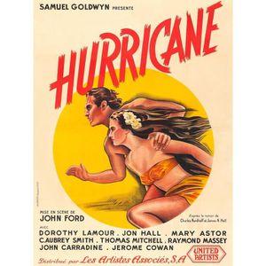 AFFICHE - POSTER HURRICANE reproduction affiche de cinéma en 60x80c