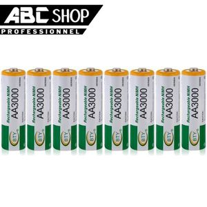 CHARGEUR DE PILES LOT 8 PILES ACCUS RECHARGEABLE AA BTY NI-MH 3000mA