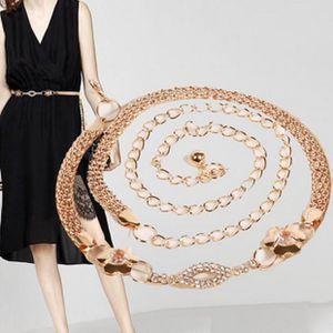 7eb78e1a9ed1 CEINTURE ET BOUCLE Femmes Lady Fashion Chaîne en métal Chaîne de cein ...