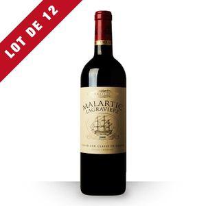 VIN ROUGE 12X Château Malartic-Lagravière 2008 Rouge 75cl AO