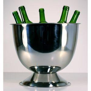SEAU - RAFRAICHISSEUR  Vasque à champagne Auréole en inox pour 5 à 6 bout