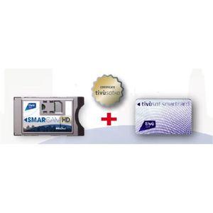 RÉCEPTEUR - DÉCODEUR   Pack Module Cam avec Carte (à vie) Tivusat