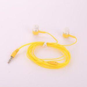 CASQUE - ÉCOUTEURS 3.5mm In Ear Sport Filaire Écouteurs jaune