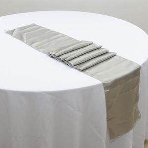 CHEMIN DE TABLE 10pcs chemins de table satinés pour mariage 30x275