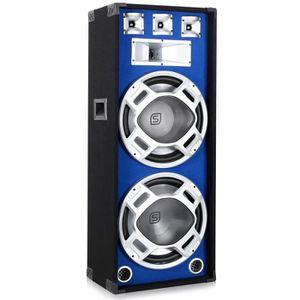 ENCEINTE ET RETOUR Enceinte Sono 2 x38cm avec LED bleues 1000W