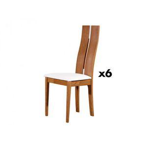 chaise lot de 6 chaises salena htre massif coloris ch - Chaise En Chene