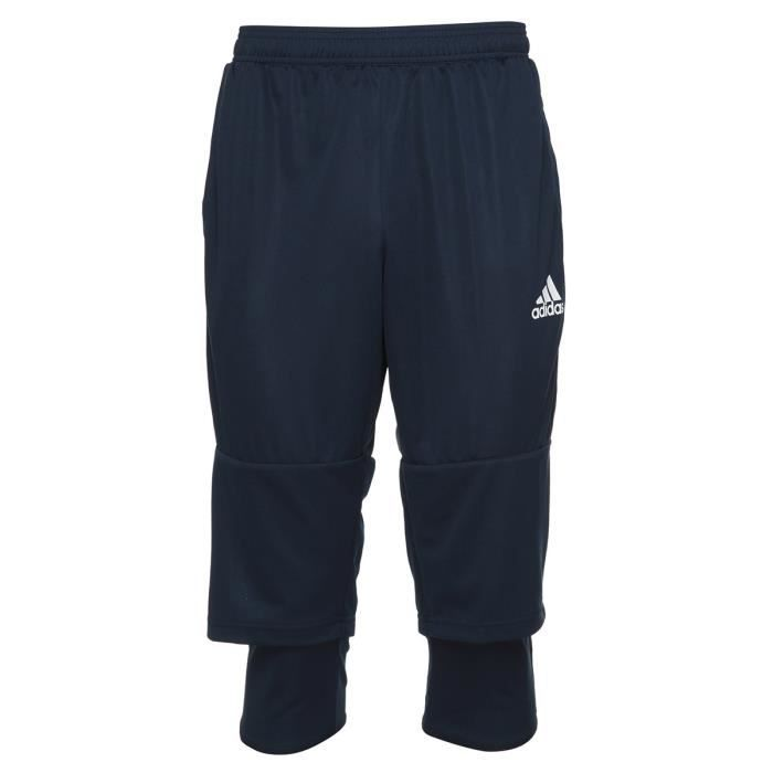 ADIDAS Tiro 17 Pantalon 3 / 4 - Bleu foncé / Blanc
